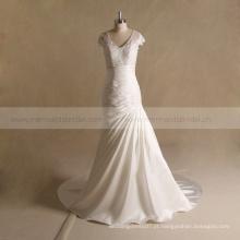 Bondage aline vestido de noiva sexy para vestido de noiva maduro
