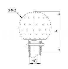 sanitary bolted Fixed cleaning ball