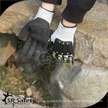 SRSAFETY black menchanic gloves anti-impact gloves in china working gloves/hand protection work glove