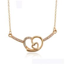 44592 atacado xuping moda coração colar de ouro 18k cor em forma de coração elegante colar