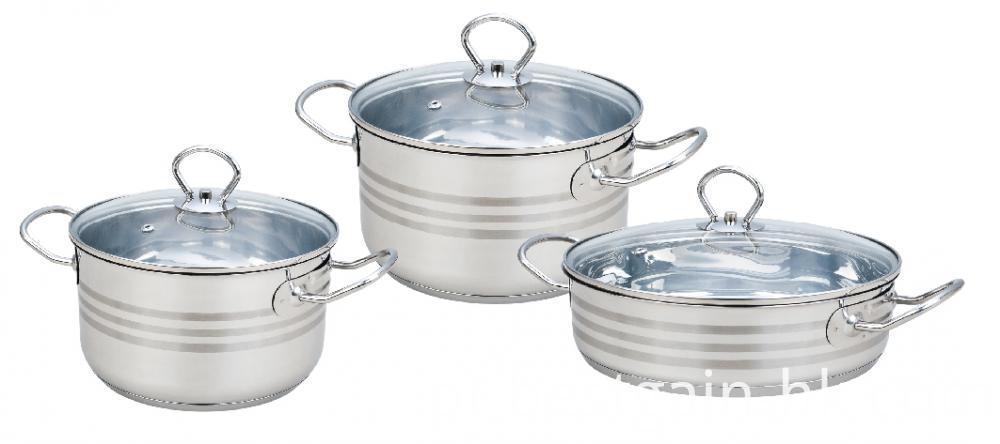 Cookware Set With Liner Handles