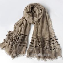 Fashion plain Top selling women hijab muslim rayon bandhnu hijab stole shawl scarf