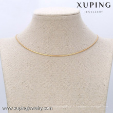 42609 Xuping Fine Jewelry Collier chaîne avec plaqué or 18 carats