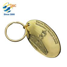 Logo fait sur commande de haute qualité bon marché en gros fait sur commande en métal émail Keychain