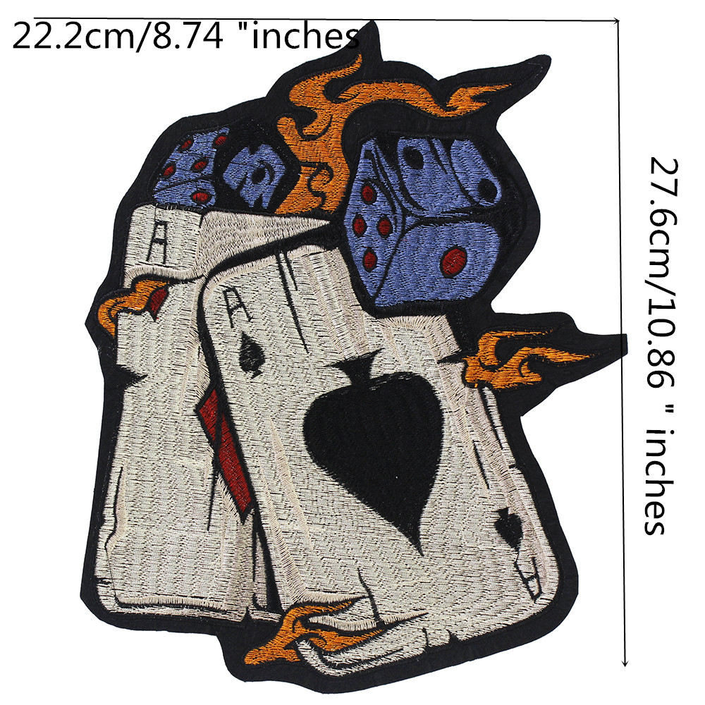Cards Embroidery Patch