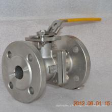 Vente chaude 2 voies en acier inoxydable bride type robinet à tournant sphérique usine prix