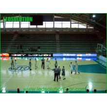 Exposição interna do perímetro da exposição de diodo emissor de luz do estádio do basquetebol da cor completa