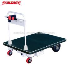 Quatro rodas-400 kg armazém entregando carrinho de mão carrinho de plataforma elétrica