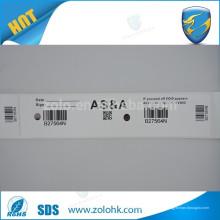 Excelente qualidade de impressão personalizada auto adesivo adesivo de segurança rolo papel revestido material de etiqueta de segurança com brilho