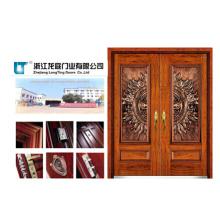 Turkish Style Steel Wooden Armored Door (LT-505)