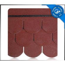 Telha do telhado do asfalto da escala de peixes 5-Tab / telha de telhado colorida da fibra de vidro / material telhadura do betume com ISO (12 cores)
