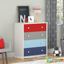 Colorful Kids 4 Drawer Bedroom Storage Cabinet (HC01)