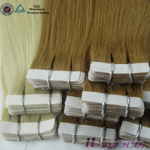 Large Stock Top Quality Russian Hair Double Drawn Remy #613 Tape In Hair Extensions