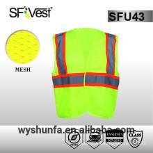ANSI / ISEA 107-2010 veste de chaussée veste de sécurité à haute visibilité 100% polyester 3M ruban réfléchissant plusieurs poches avant