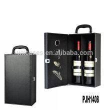 Neue Ankunft Luxus Leder Wein-Box für 2 Flaschen aus China Fabrik