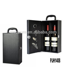 New arrival luxury leather wine box for 2 bottles from China factory