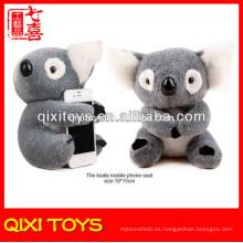 animales peluches rellenos peluche de juguete koala teléfono móvil