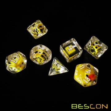 Bescon Novelty Polyhedral Dice Set YellowDuck, Yellow Duck RPG Dice set de 7