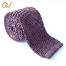 Cravate maigre de lien de tricot de polyester pour des hommes faits en Chine