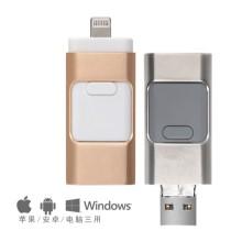 3 en 1 Plug and Play de alta velocidad USB Flash Drive para iPhone IOS y Android