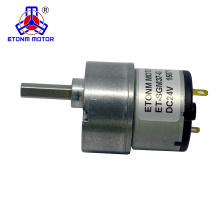 Low cost low noise 37mm gear motor 24v dc encoder