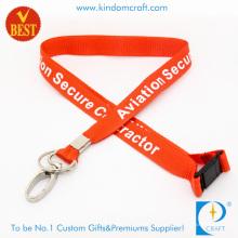 Großhandel Nylon Personal gedruckt Lanyard mit Oval Clip (LY-093)