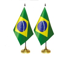 customized mini brazil national table desk table flag