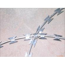 Cross Type Galvanized Razor Barbed Tape Wire