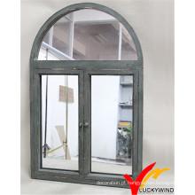 Vintage estilo antiquado obturador janela espelho