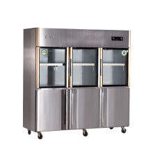 Double Temperature Six Doors Kitchen Refrigerator