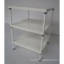 Adjustable Powder Coating 4 Tiers Perforated Home Metal Rack (MR454560B3)