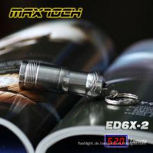 Maxtoch-ED6X-2 Mini-LED batteriebetrieben Stil Schlüsselanhänger CR123A 3V Taschenlampe