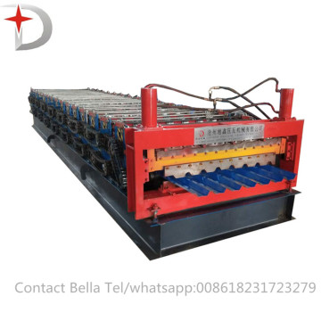 Lapisan Panel Double Roll Forming / Making Machine