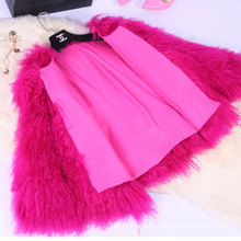 Mongolian Lamb Fur Jacket Women Winter Warm Fur Jacket Mongolian Fur Coat