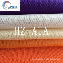 100% PP tecido não tecido Spunbond, cores tecidos não tecidos para sacos de compras 75GSM