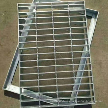 Checkered Plate Trench Cover Drain Stainless Steel Bar Grating Cover with Frame