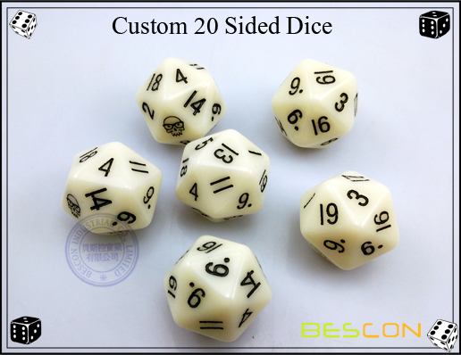 Custom 20 Sided Dice