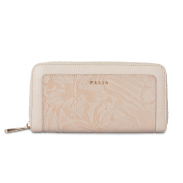 Belle portefeuille imprimé Zipper Long Clutch For Lady