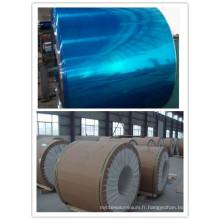 Bobine d'aluminium avec un côté enduit de PVC