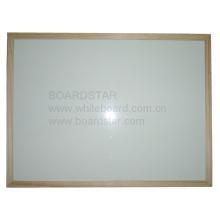 Pizarra blanca no magnética de paño seco con marco de madera (BSNCO-W)