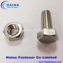 stainless steel A4-80 hex bolt/hex head bolt with hex nut