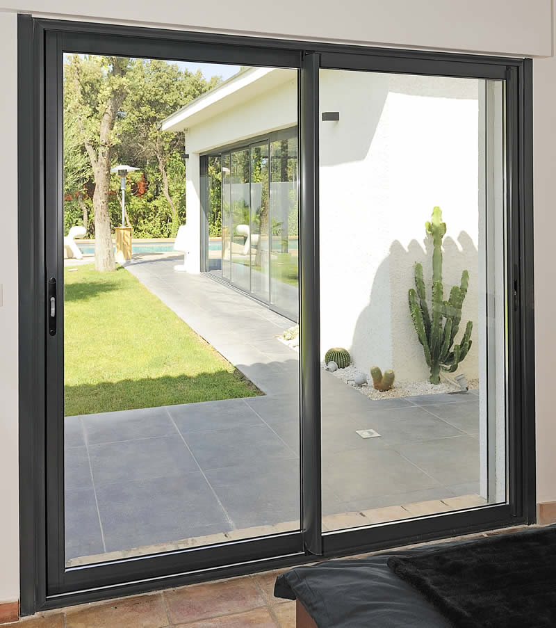 2019 new style heavy duty aluminium sliding door system factory sale