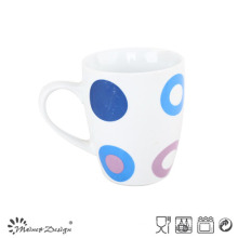 10oz Porcelain Ceramic Coffee Mug with Decal for Promotion