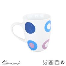 Taza de café de cerámica de la porcelana 10oz con la etiqueta para la promoción