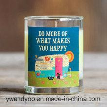 Luxuriöse duftende Soja-natürliche Kerze im Klarglas-Glas