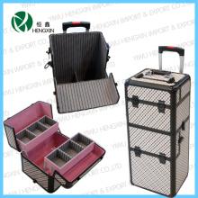 Beauty Trolley Makeup PVC Rolling Cosmetic Case (HX-P2607)