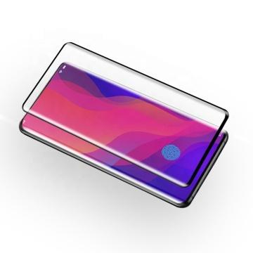 Protecteur d'écran en verre trempé incurvé pour OPPO FindX