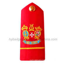 Custom Different Shape Embroidery Epaulets Patch (GZHY-PATCH-003)