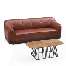 Factory Price Waiting Area 3 Seater Leather Office Sofa Couch
