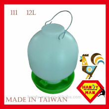 Plástico Grande 12L Durable High Quality Poultry Ball Type Drinker